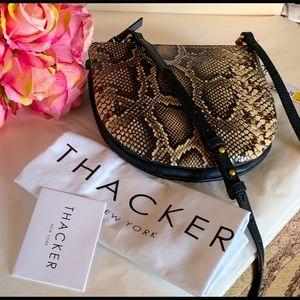 Thacker Cece Python embossed leather crossbody